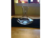 Rosenthal clear glass wine/water carafe. Unwanted gift £5