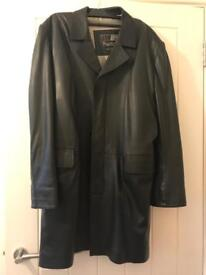 Beautiful soft black leather coat