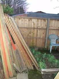 Six dismantled lap fence panels - approx 18 months old.