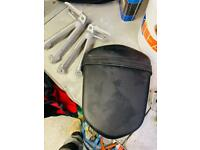 Pillion seat and foot pegs