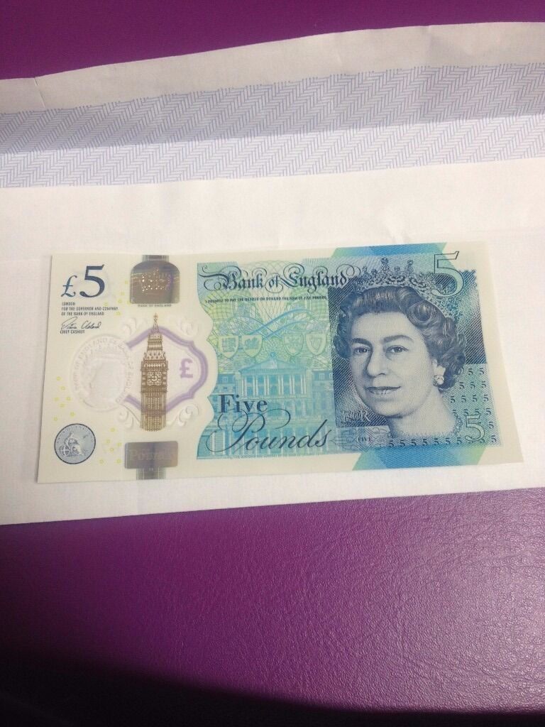 New £5 note with Ak47 Serial number