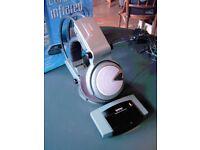 CORDLESS HEADPHONES WITH INFRA RED. 7 METRE RANGE. TV, HI FI, PC COMPATIBLE.