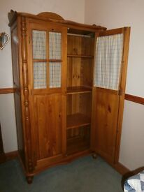 SOLID WOOD SHELVED WARDROBE WITH OPTIONAL HANGING RAIL *** NEAREST OFFER SECURES***