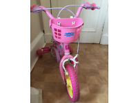 Girls Peppa pig bike