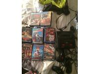 Sega mega drive 2 with 8 games tested and working fine