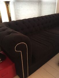 Black Chesterfield Sofa - MAKE ME AN OFFER