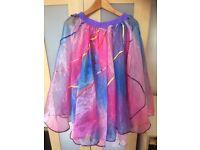 Sparkly Dance Costume Skirts / Rainbow long Princess skirt