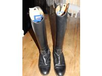 Black, Long, Leather Riding Boots