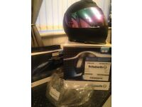 Schuberth S2 Sport Matt Black . Size 58/59 with integrated rider intercom and 2 pinlock visors.