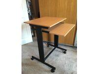 Slimline Computer Desk with Sliding Keyboard Shelf