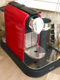Nespresso coffee machine with milk frothing