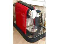 Nespresso coffee machine with milk frothing