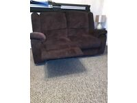NEW DFS FABRIC RECLINER 2 X 2 SOFAS DELIVERY FREEE