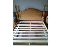 Double Pine Bed complete