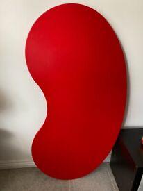 Jelly bean shaped desk