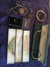 Collection of silver and gold jewellery for sale