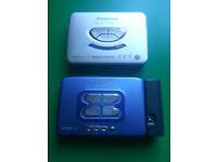 2 x Panasonic Personal Stereo Cassette Players + 1 x Earphones