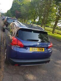 2014 Peugeot 2008, very low mileage, blue, full service history, MOT June 2019, excellent car!