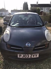 Nissan micra £850 ONO, low mileage, 2003, need gone ASAP