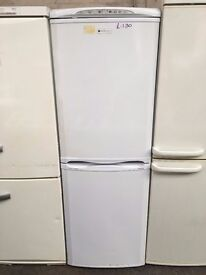 HOTPOINT free standing fridge freezer 6 ft tall in good condition & perfect working order