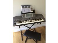 TECHNICS SX-KN6000 ELECTRIC KEYBOARD,STAND AND STOOL