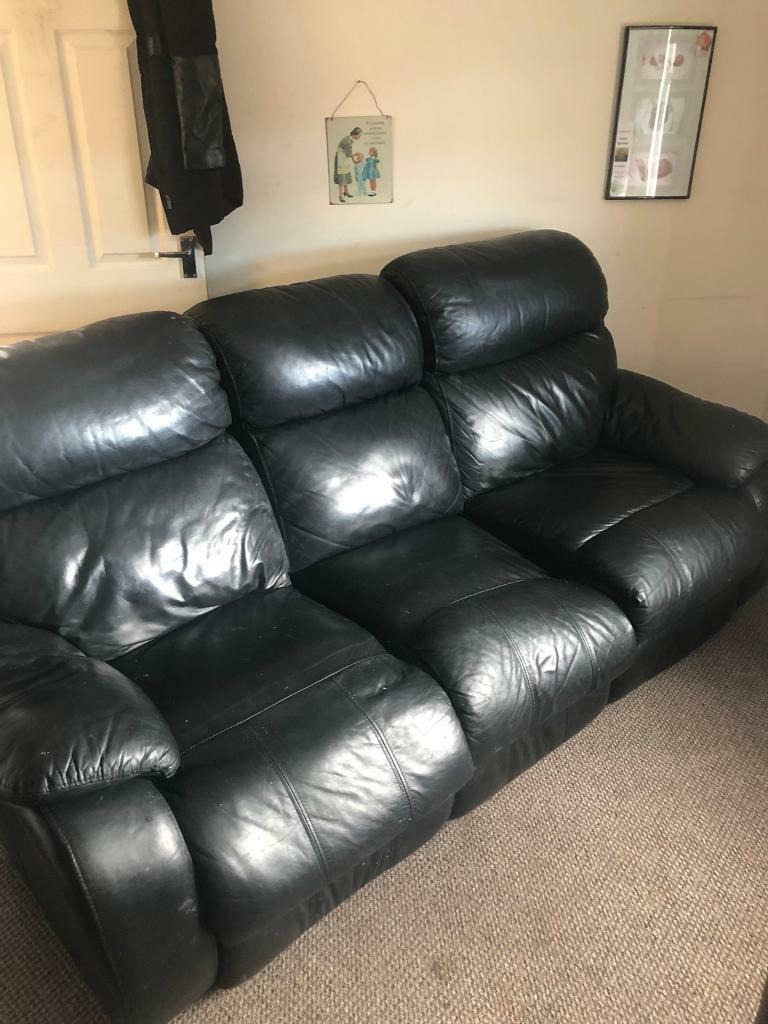 Free 3 Seater Reclining Leather Sofa In Newquay Cornwall Gumtree