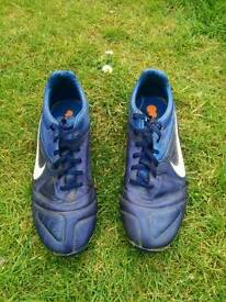 Nike Leather Football Boots Size 8