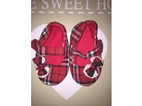 Little baby tartan pram shoes excellent condition