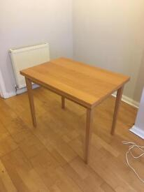 IKEA beech effect extending dining table