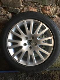 Audi alloy genuine with brand new continental tyre