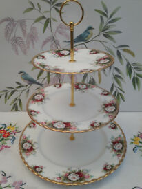 "Royal Albert ""Celebration Rose"" XL cake stand"
