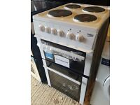 Ex-Display Beko Electric Cooker with Hob - White 50cm