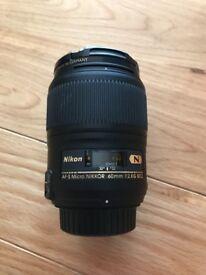 Nikon AF-S 60mm f/2.8G ED Micro Lens