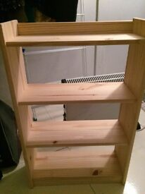 Shelf Storage Unit - Solid Unfinished Pine