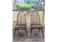 2x Pre-owned ERCOL WINDSOR QUAKER DINING CHAIR