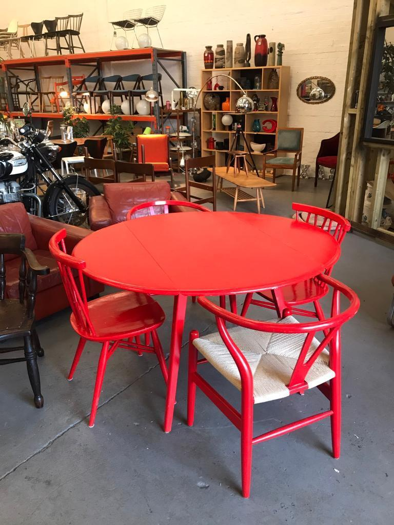 Selection Of Mid Century Retro Vintage Furniture Table Chairs Sofa Etc