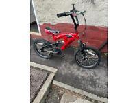 """Boys 16"""" wheel full suspension bike"""