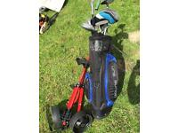 Young gun golf clubs with bag and trolley