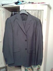 Black stripy business suit New
