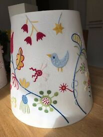 Lampshade with Embroidered design
