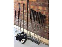 Full set of mcgregor golf clubs ideal for beginner