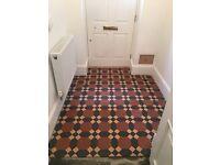 Original style Victorian ceramic floor tiles