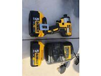 DeWalt 18v impact drill with two 5ah battery's