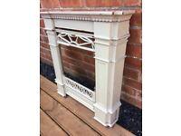 Art Deco Enameled Cast Iron Fireplace