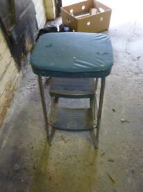 Vintage old collectible retro steps, shabby chic, practical useable