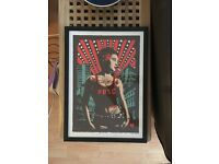 """Framed iconic """"Bristol"""" print from the People's Republic of Stokes Croft"""