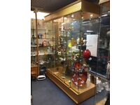 Retail Shop Display Unit / Cabinet - Full Glass Revolving Units