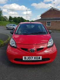 Toyota AYGO VVT-I, 2007, 1L, in very good condition, 59k genuine miles, service history, £20 TAX