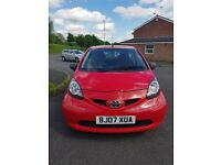 Toyota Aygo 2007, 1L, Red, in immaculate condition, 58k genuine miles, service history, £20 TAX