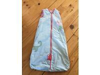 Girls summer sleeping bag 18-36 months 1 tog
